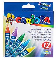 Мелки восковые тонкие 12 цветов CARIOCA 42365