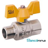 Кран шаровой для газа ручка бабочка BB SD Forte БГШ вода (1009H)