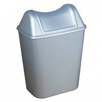 Корзина мусорная+крышка. 579+580SAT.