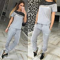 Женский костюм + эко кожа Givenchy