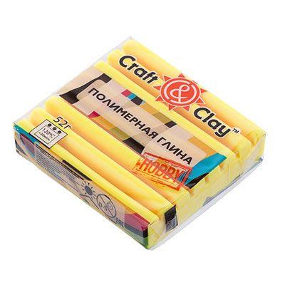 Полимерная глина Craft&Clay Крафт энд Клей 52 г,цвет лютик 1051