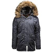 Куртка аляска Slim Fit N-3B Parka Alpha Industries (Steel Blue)