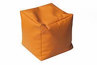 [ Пуф Chip D-529 S + Подарок ] Мягкий пуф кубик оранжевый