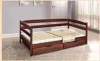 Кровать односпальная деревянная с ящиками  Ева  - 0,9