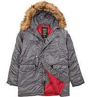 Куртка аляска N-3B Slim Fit Parka Alpha Industries (воронений метал)