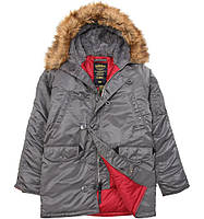 Зимняя куртка аляска Alpha Industries Slim Fit N-3B Parka MJN31210C1 (Gun Metal), фото 1