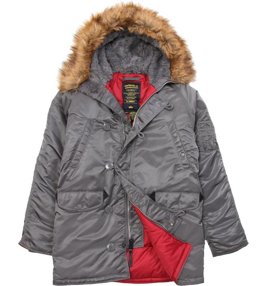 4113ed7b043 Куртка Аляска N-3B Slim Fit Parka Alpha Industries (воронений Метал ...