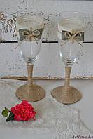 Бокалы свадебные Рустик