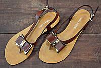 Летние коричневые женские босоножки Prima D'Arte, фото 1