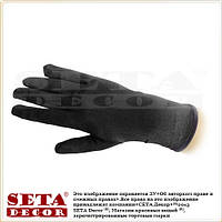 Мужские черные перчатки атласные короткие