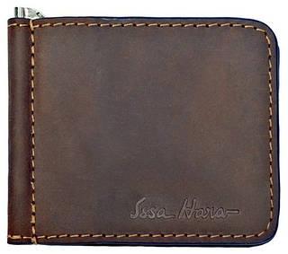 Оригинальный кожаный зажим для денег, мужской ISSA HARA Зажим 1 (32-00)