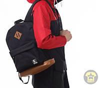 Рюкзак, сумка ( унисекс ) ( взрослый )«Ястребь» с ромбом ( 25 Л ) ( чёрный / коричневый )