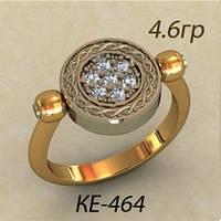 Оригинальное женское золотое кольцо 585 *