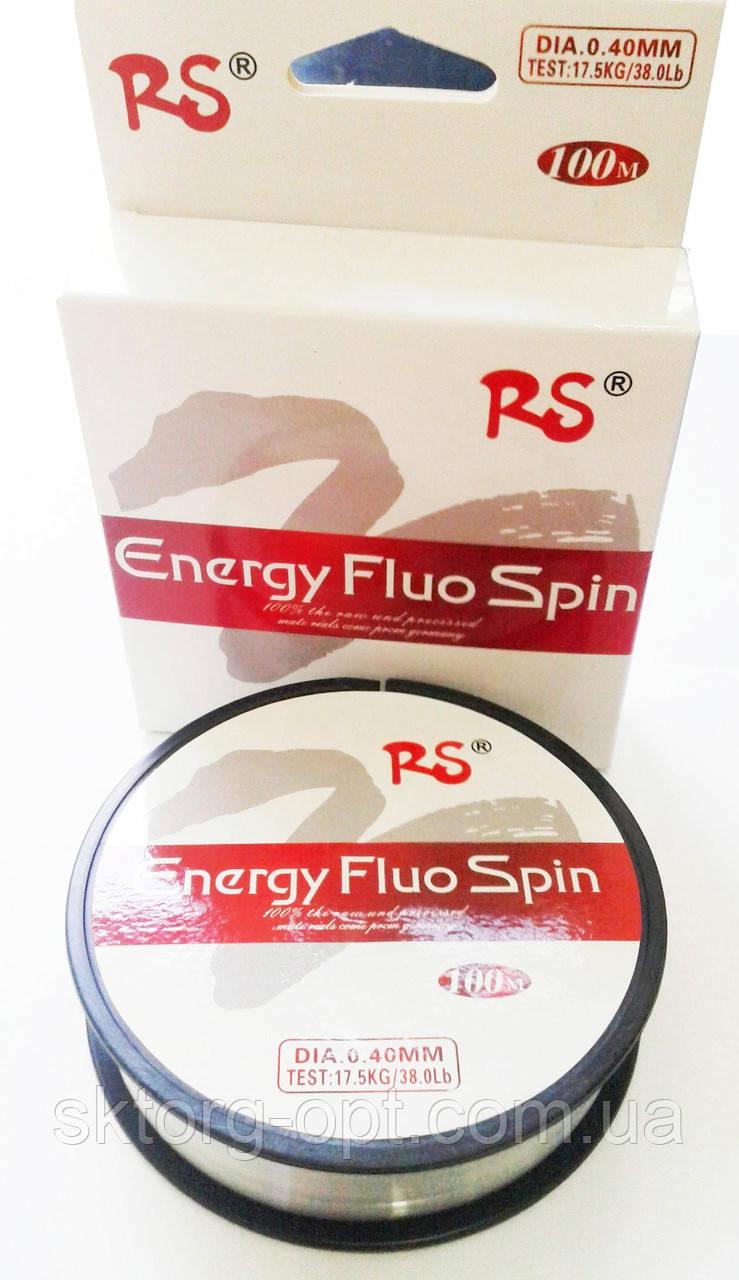 Волосінь RS Energy Fluo Spin 100м 0.40 мм /17,5 kg