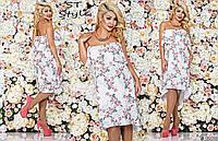 Женское платье трансформер цветочного принта