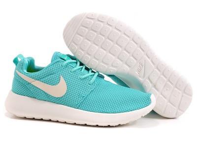 Кроссовки Nike Roshe Run Green Зеленые женские