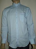 Мужская рубашка в голубую полоску, фото 1