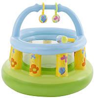 Детский надувной манеж Intex 48474 Игровая площадка: 130х104 см, 6+ месяцев, винил, 2,5 кг