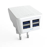 Сетевое зарядное устройство LDNIO DL-AC62 c Micro USB 5V / 4.2A, 4 USB