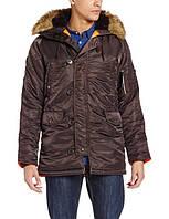 Куртка аляска Slim Fit N-3B Parka (темно-коричневая)