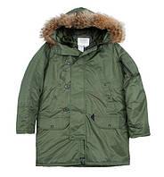 Куртка Аляска  «N3B»  Teflon® by DuPont™цвет олива Германия M, Оливковый