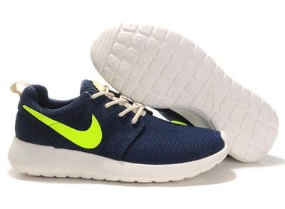 Кроссовки Nike Roshe Run Blue Green Синие мужские