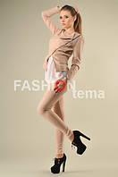 Костюм женский с брюками бежевый