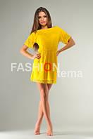 Платье Женское из гипюра желтого цвета