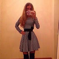 Женское платье французский трикотаж гусиная лапка  44-46