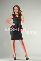 Платье баска черно из дайвинга 42