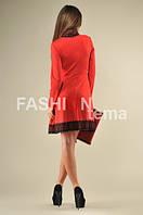 Платье герцогиня красное с