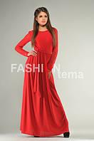 Платье женское Невеста красное ткань масло гипюр универсальный размер 42-44
