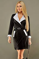 Платье женское французский трикотаж черное