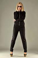 Костюм женский с брюками /двунитка / черный