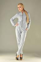 Костюм женский с брюками /двунитка / серый