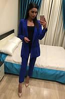 Женский классически костюм (брюки+жакет)