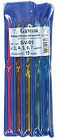 """Набор крючков для вязания """"GAMMA"""" SV-01 пластик 15 см 5 шт"""