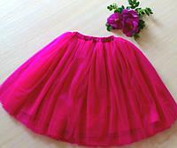 Модная юбка-пачка малиновая