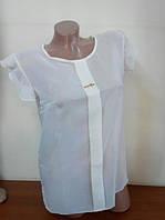 Блузка шифоновая Сьюзи ,белая 44р