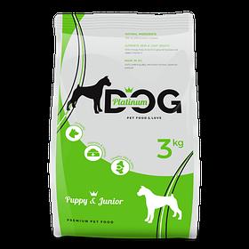 PLATINUM DOG PUPPY&JUNIOR сухой корм для щенков и мелких пород собак, 3 кг