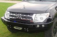 Бампер передний для Mitsubishi Pajero IV (с 2006 года) без кенгурятника