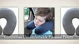 Ортопедическая дорожная подушка для шеи из пены с памятью, фото 3