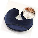 Ортопедическая дорожная подушка для шеи из пены с памятью, фото 4