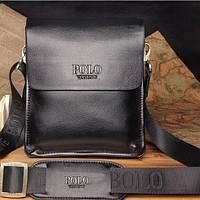 Стильная брендовая мужская кожаная сумка Polo! Часы в Подарок!