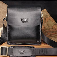 Стильная брендовая мужская кожаная сумка Polo Топ Продаж! 2 Цвета!