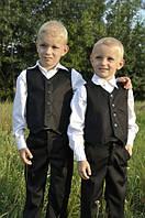 Костюм выпускной для мальчика в детский сад: брюки + жилет (черный)