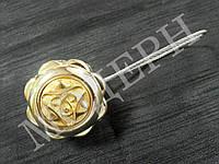 Магнит-подхват для штор Медальон цвет золото
