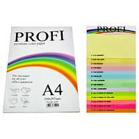 Бумага цветная PROFI (10 цв.) А4, 80г/м2 , 100 листов (10 цветов)