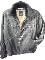 Куртка мужская с мехом Почти кожа (yw55), фото 1