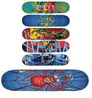 Детский скейт 60 х 15 см разные цвета